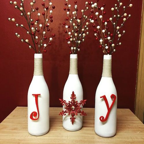 Joyful Christmas Wine Bottles