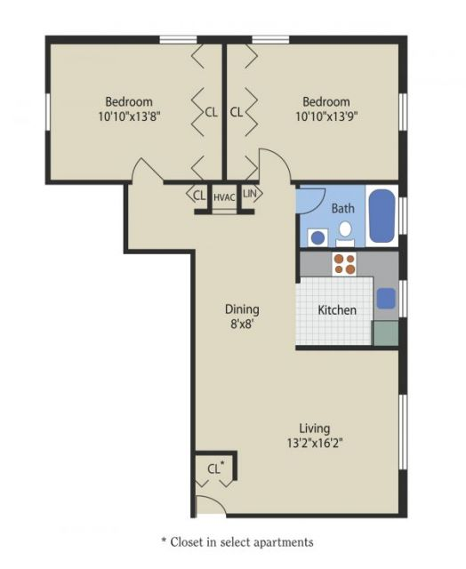 L Shape Apartment In Glen Burnie, MD From